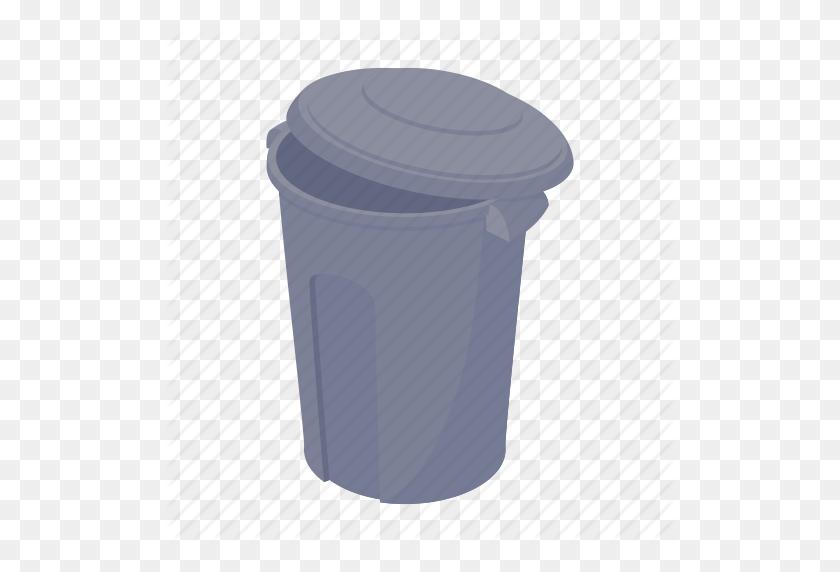 Basket, Bin, Can, Cartoon, Garbage, Rubbish, Trash Icon - Trash Can PNG