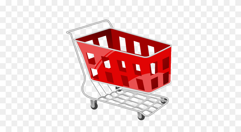 Basket, Cart, Red, Shopping Icon - Shopping Cart Icon PNG