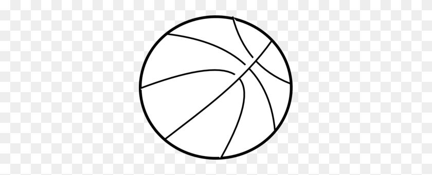 299x282 Basketball Ball Clipart Black And White - Basketball And Net Clipart