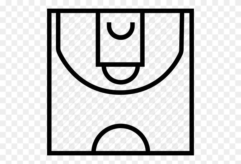 Basketball, Basketball Court, Court, Half, Halfcourt, Sport - Basketball Court PNG