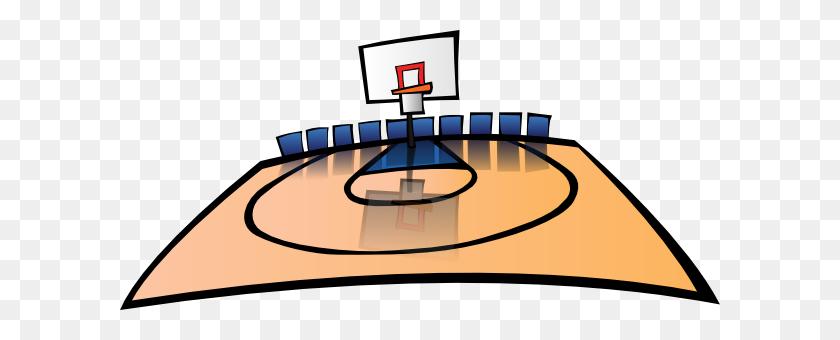 Basketball Court Clip Art Look At Basketball Court Clip Art Clip - Asphalt Clipart
