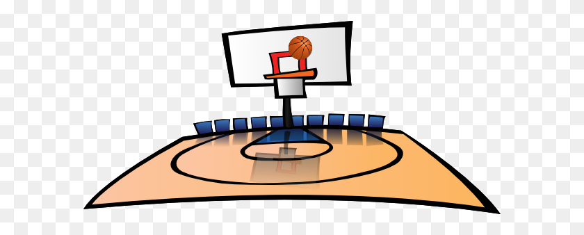 Basketball Court Clipart Group With Items - Basketball Court Clipart