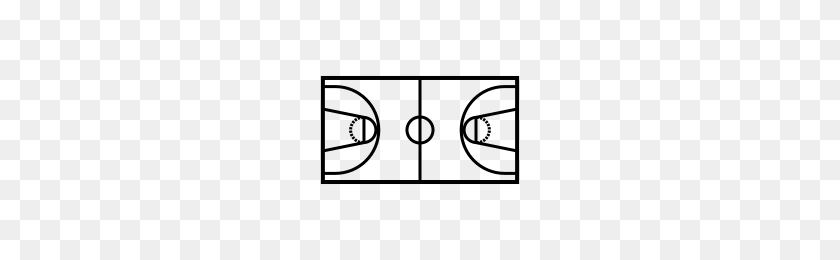 Basketball Court Icons Noun Project - Basketball Court PNG