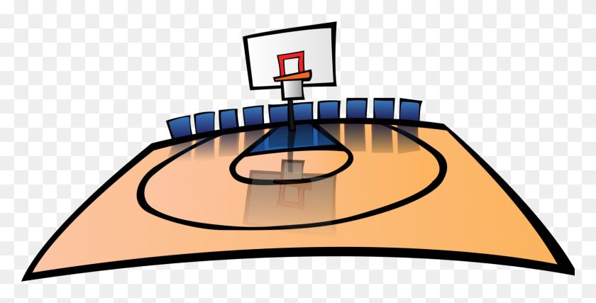 Basketball Court Team Sport Backboard - Sports Team Clipart