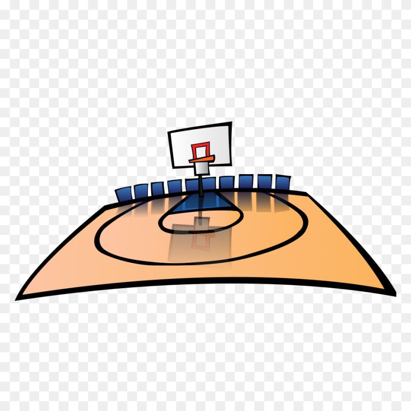 Basketball Half Court Clip Art - Basketball And Hoop Clipart