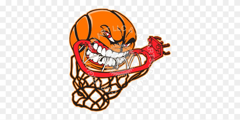 Basketball Hoop Clip Art Basketball Eating Hoop Sports - Streak Clipart