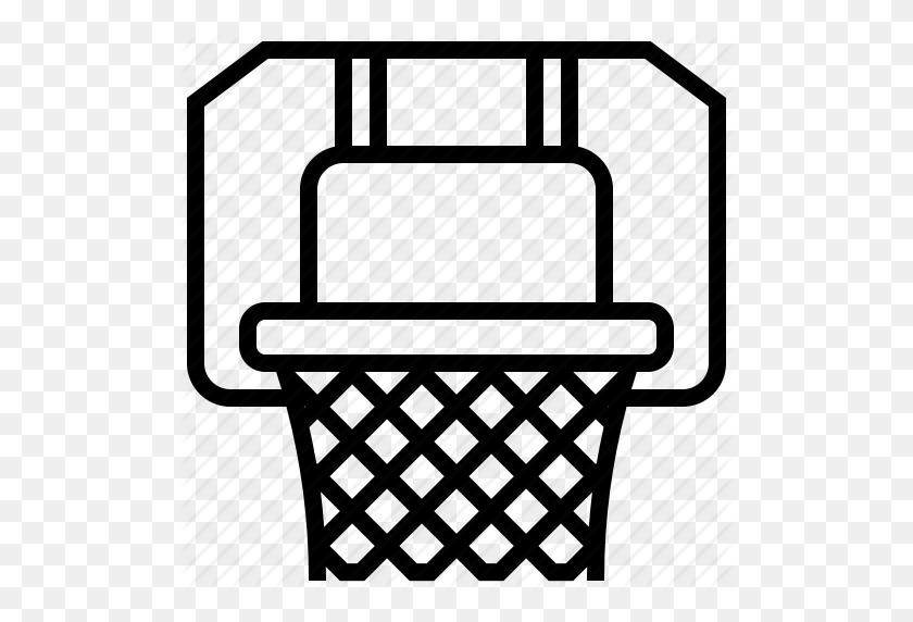 Basketball, Hoop, Net, Sport Icon - Basketball And Hoop Clipart