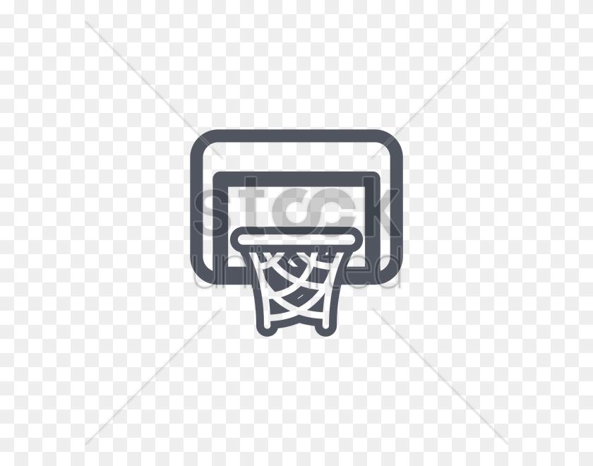 600x600 Basketball Hoop With Backboard Vector Image - Basketball Backboard Clipart