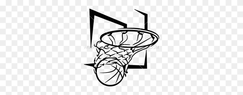 Basketball Net Clipart - Basketball And Hoop Clipart