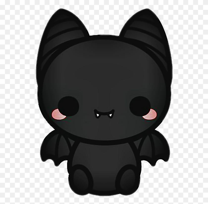 Bat Blackbat Vampire Fangs Black Halloween Cartoon Stic - Vampire Fangs PNG