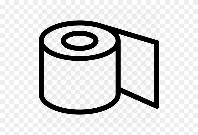 Bathroom, Paper Roll, Tissue Paper, Tissue Roll, Toilet Paper Icon - Toilet Paper Roll Clip Art