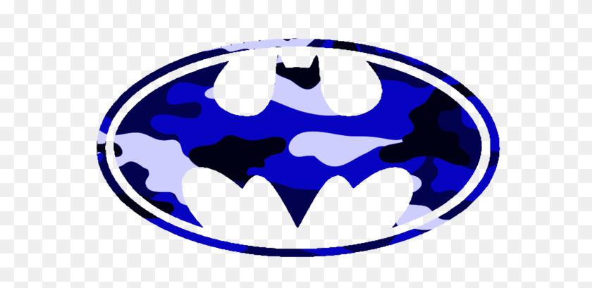 Batman Logo Blue Camo Free Images - Camo Clipart