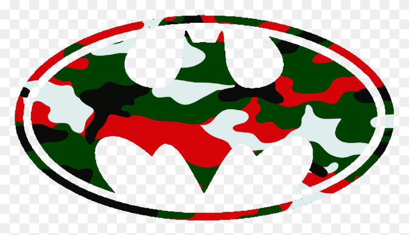 Batman Logo Christmas Camo Cut Image - Camo Clipart