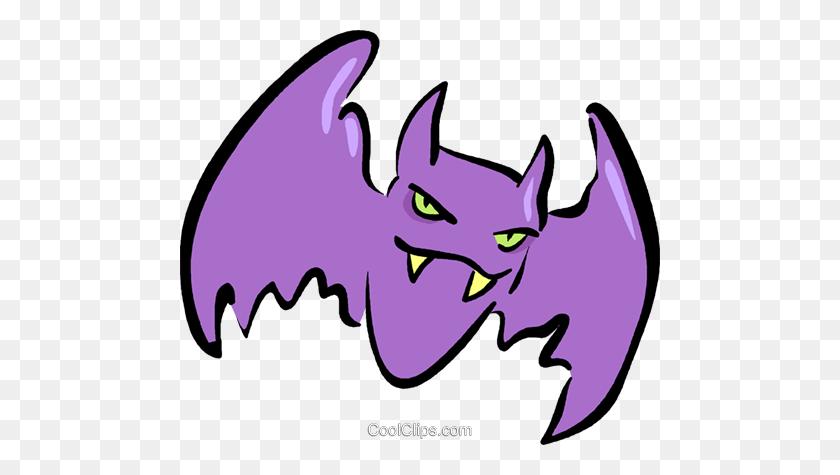 Bats Royalty Free Vector Clip Art Illustration - Vampire Bat Clipart