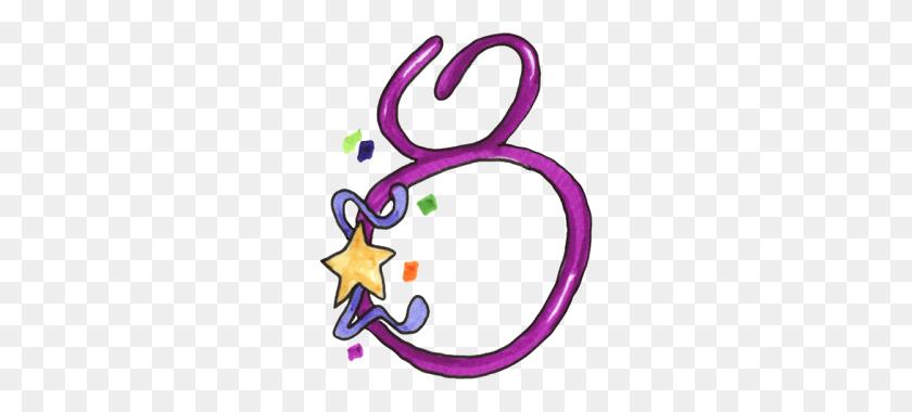 Bday Zibi Scrap Urodzinowe Number Clipart - Number 8 Clipart