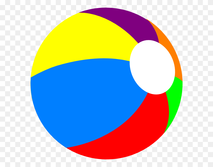 Beach Ball Beachball Primary Clip Art - Primary Clipart