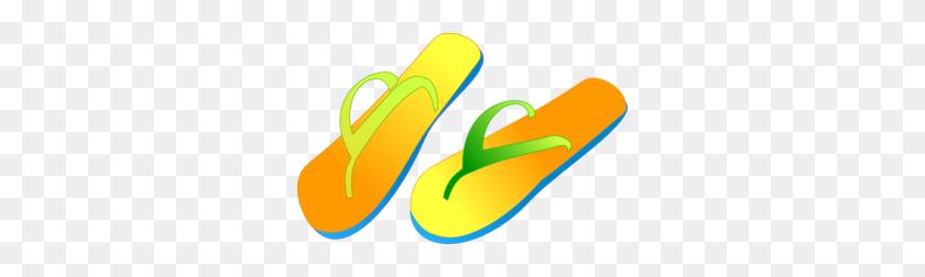 Beach Flip Flops Clip Art Clipart Feet Flip Flops - Beach Clipart