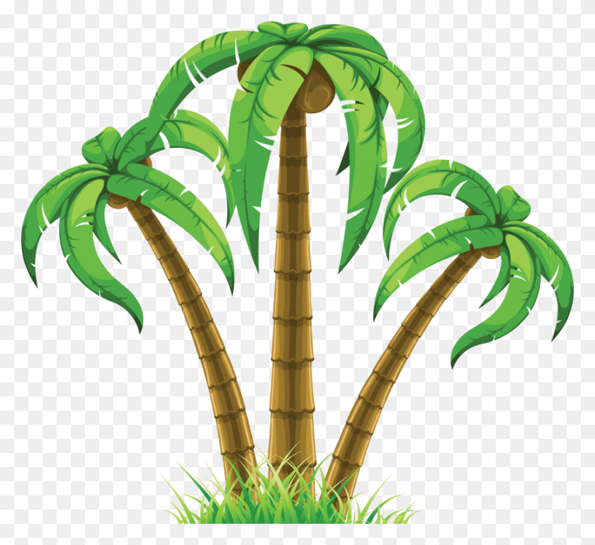 Beach Palm Tree Clip Art - Palm Tree Beach Clip Art