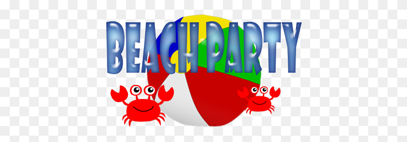 411x233 Beach Themed Disco Parties - Beach Party Clipart
