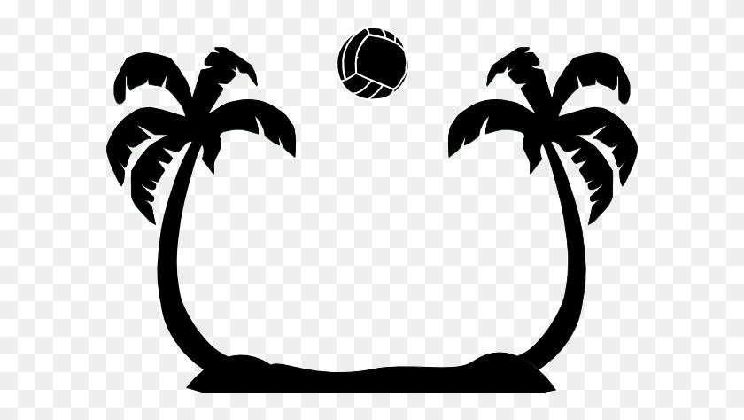 600x414 Beach Volleyball Palms Clip Art - Beach Ball Clipart PNG