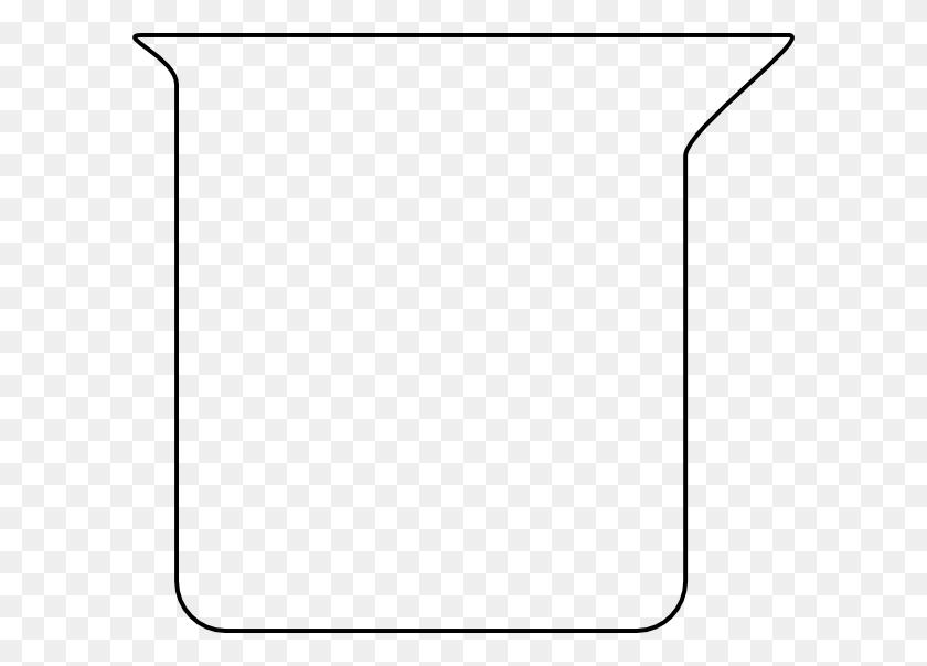 Beaker Outline Clip Art - Science Beaker Clip Art