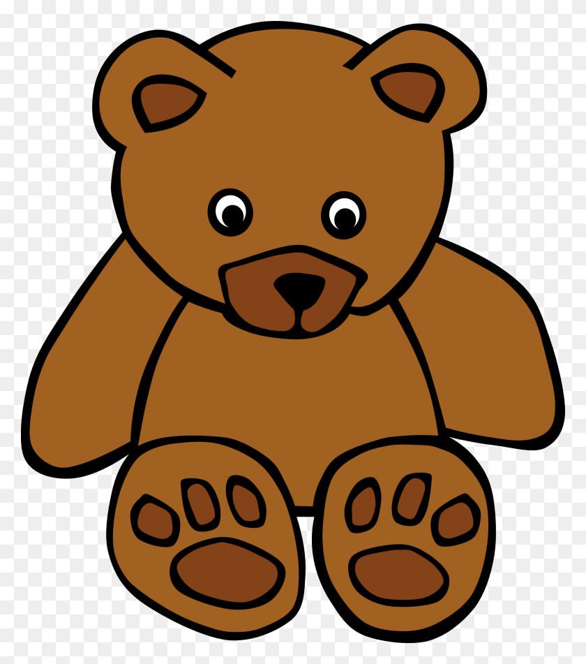 Bear Clipart Brown Objects - Woodland Bear Clipart