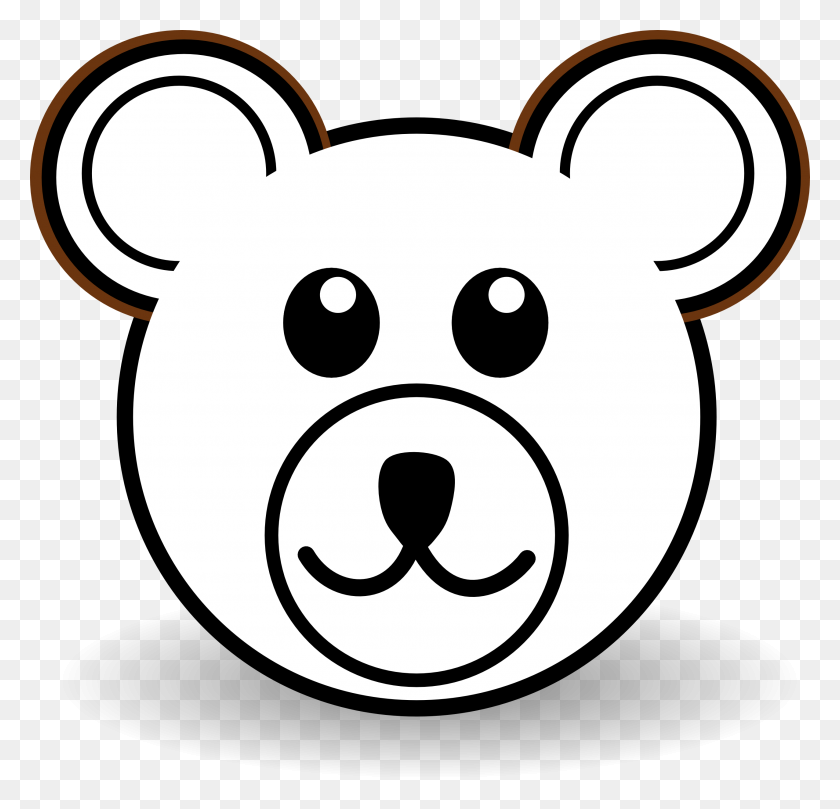 Bear Cub Clipart Head - Bear Cub Clipart