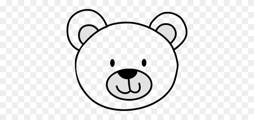 Bear Face Clipart - Cute Teddy Bear Clipart