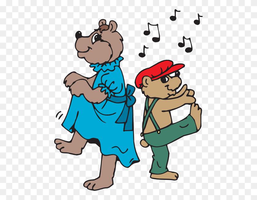 Bears Dancing Clip Art - Dance Clipart PNG
