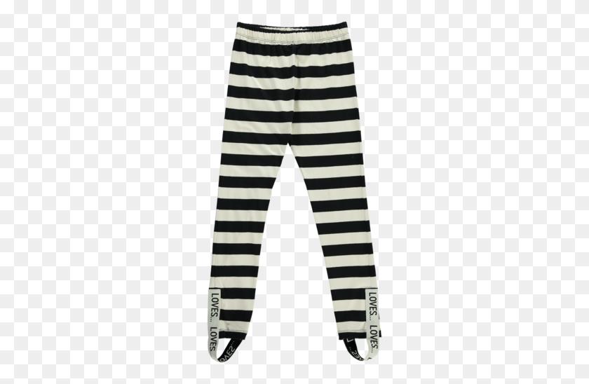 Beau Loves Leggings - Black Stripes PNG