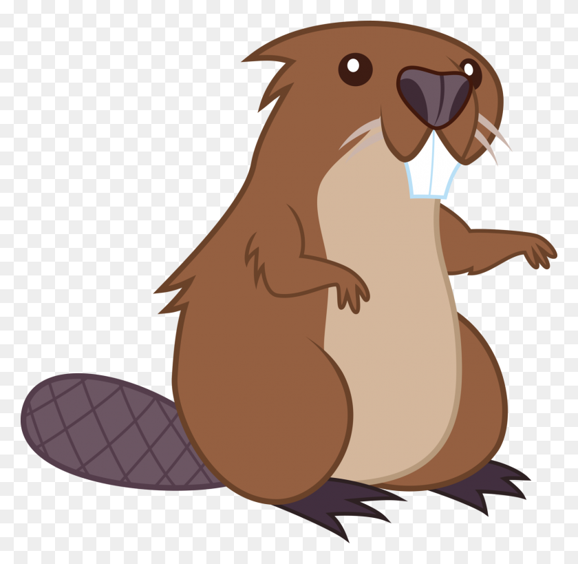 Beaver Cartoon Drawing Clip Art - Free Groundhog Clipart