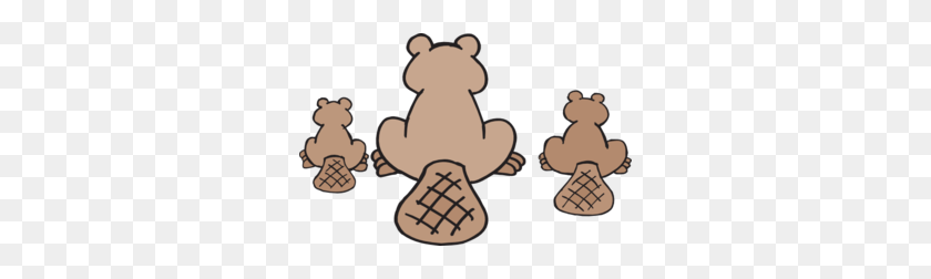 Beaver Family Png, Clip Art For Web - Duck Family Clipart