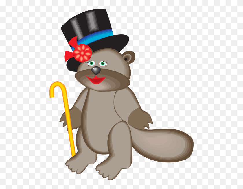 Beaver In Top Hat Png, Clip Art For Web - Top Hat Clipart