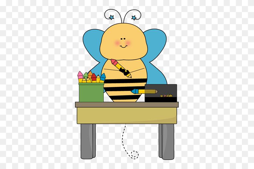Bee Pencil Monitor Clip Art - Monitor Clipart