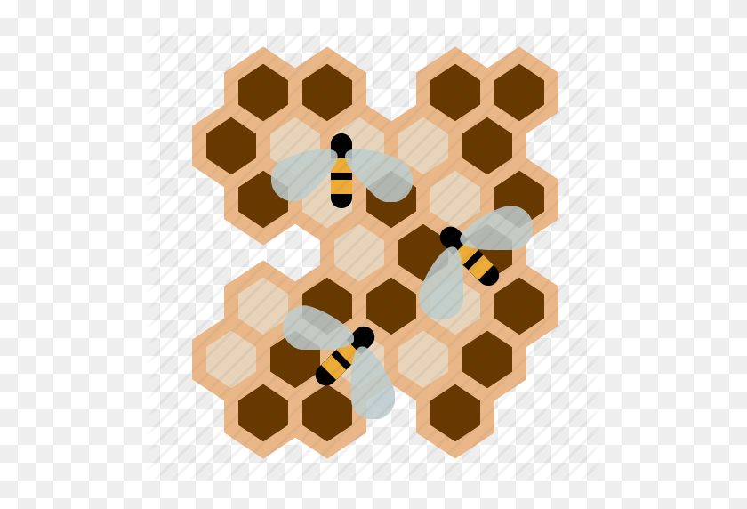 Beekeeping, Bees, Garden, Honeycomb, Larvae, Worker Bees, Yumminky - Honeycomb PNG
