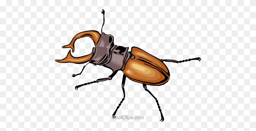 Beetle Royalty Free Vector Clip Art Illustration - Termite Clipart
