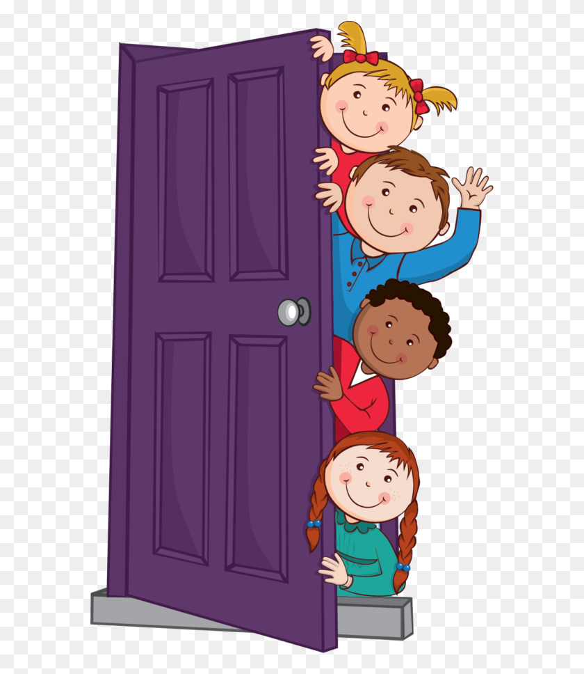 Behind The Door Clipart Cartoon Of Scared Girls Behind A Tree Door Images Clip Art Stunning Free Transparent Png Clipart Images Free Download
