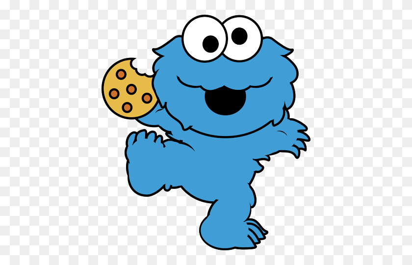 426x480 Best Cookie Monster Clipart - Monsters Clipart Free