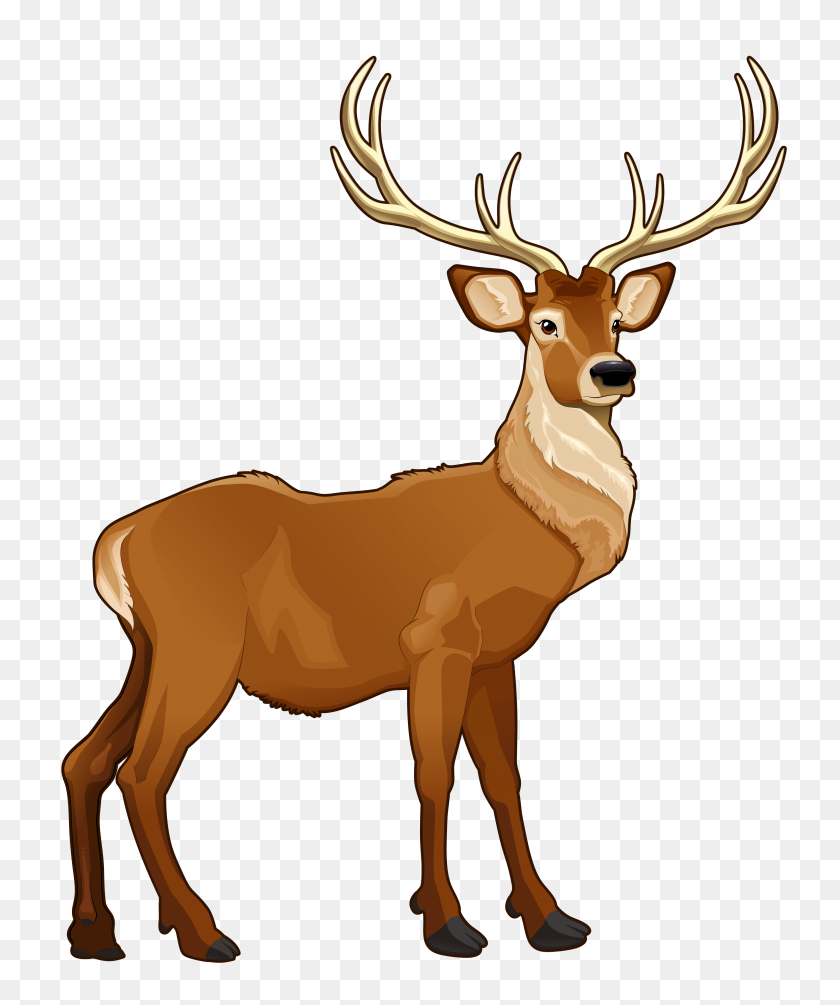 3438x4168 Best Reindeer Clipart - Reindeer Clipart
