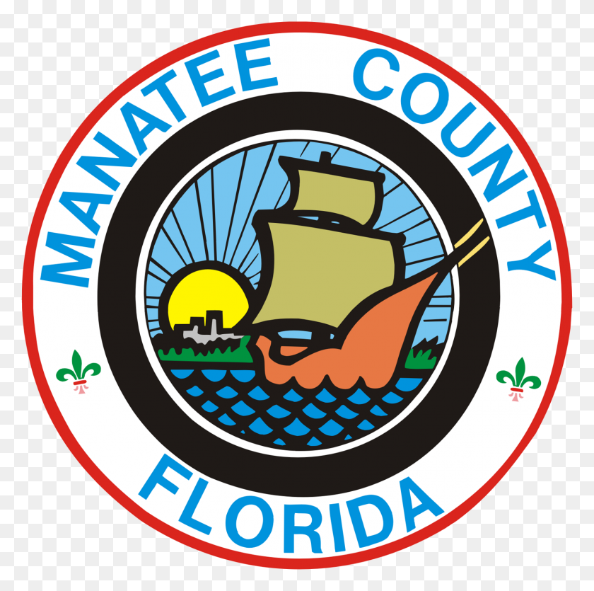 Bestandseal Of Manatee County, Florida - Manatee Clip Art