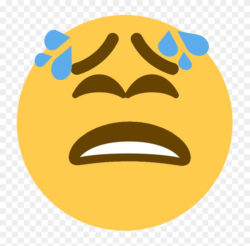 768x768 Bettertiredface - Meh Emoji PNG