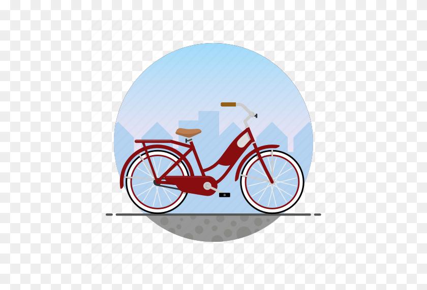 Bicycle, Bike, Circle, Girl's Bike, Women's Bike Icon - Tandem Bicycle Clipart