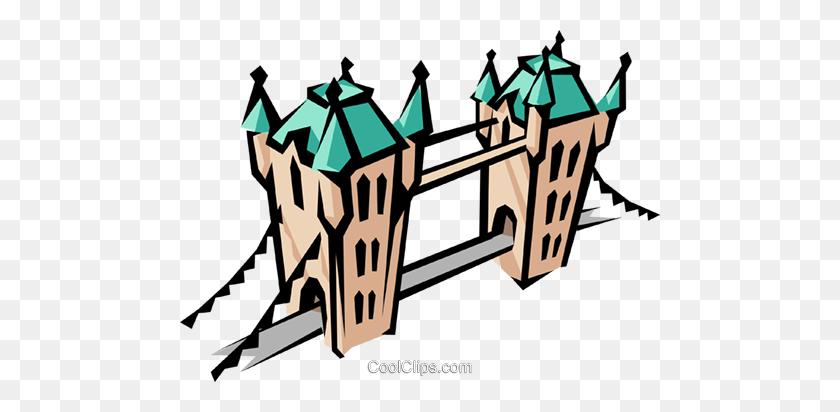 480x352 Big Ben Royalty Free Vector Clip Art Illustration - London Bridge Clipart