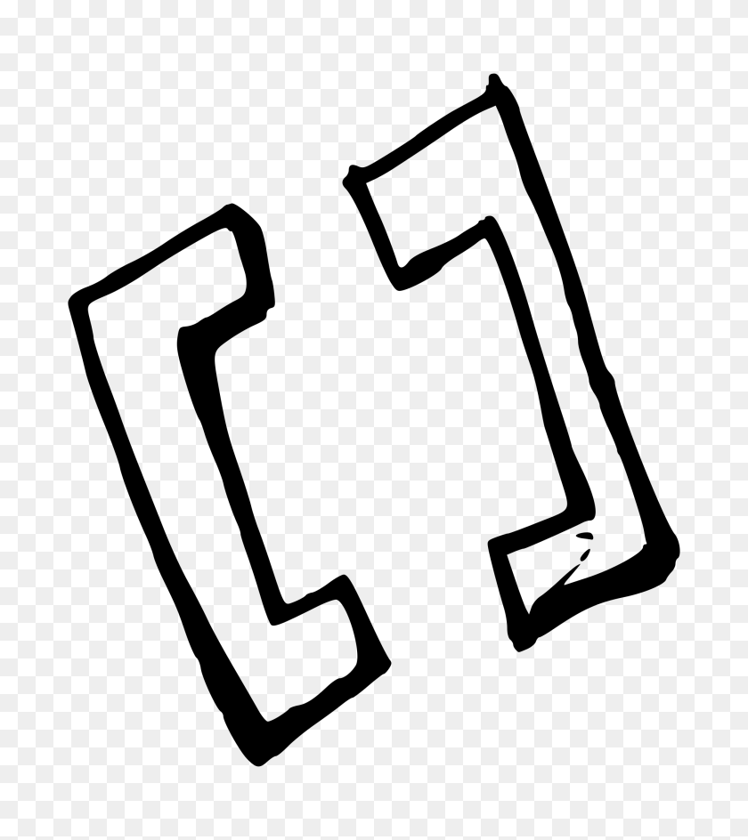 Big Brackets Slight Shadow Icons Png - Brackets PNG