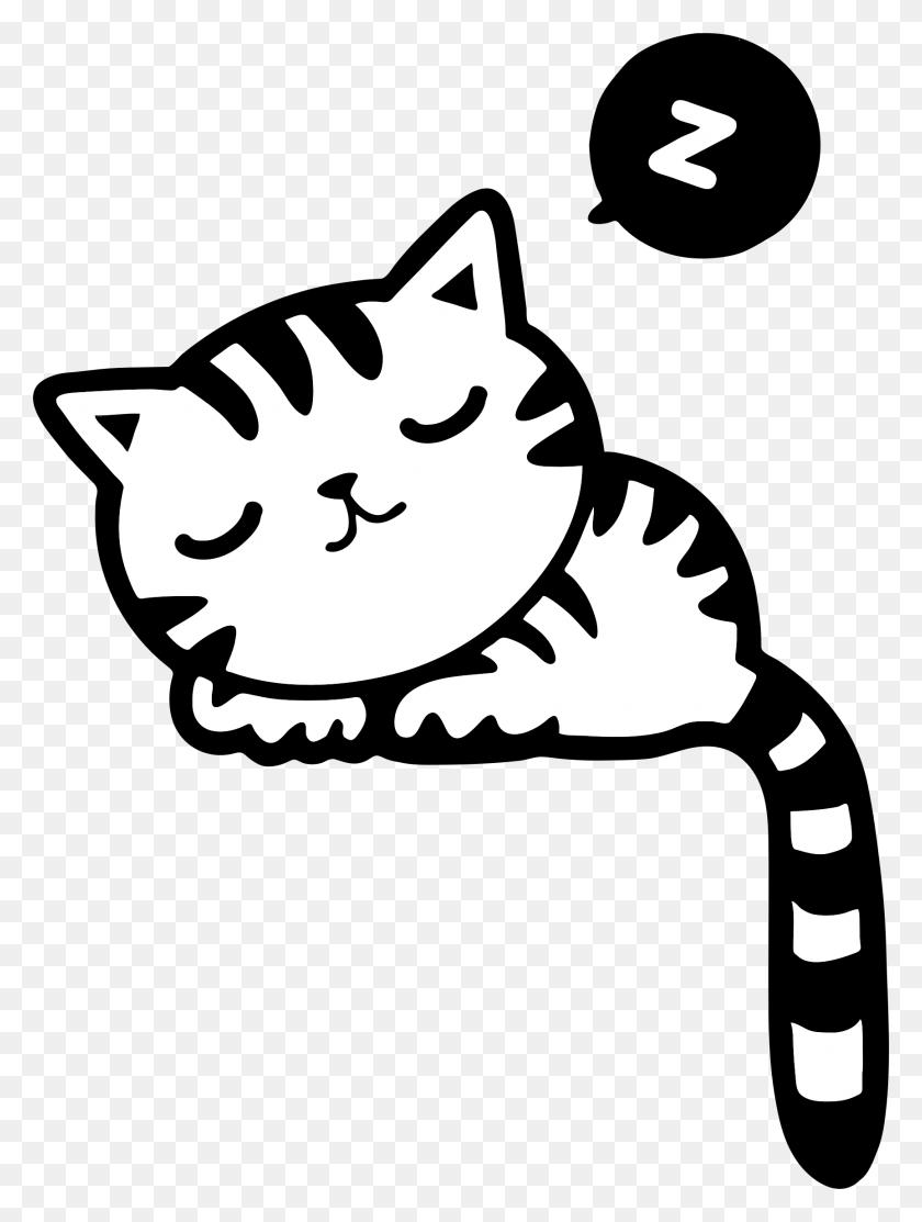 Big Cat Clipart Sleepy Cat - Running Cat Clipart