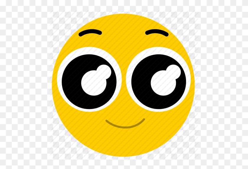 Big Eyes, Happy, Happy Eyes, Smile Icon - Big Eyes PNG