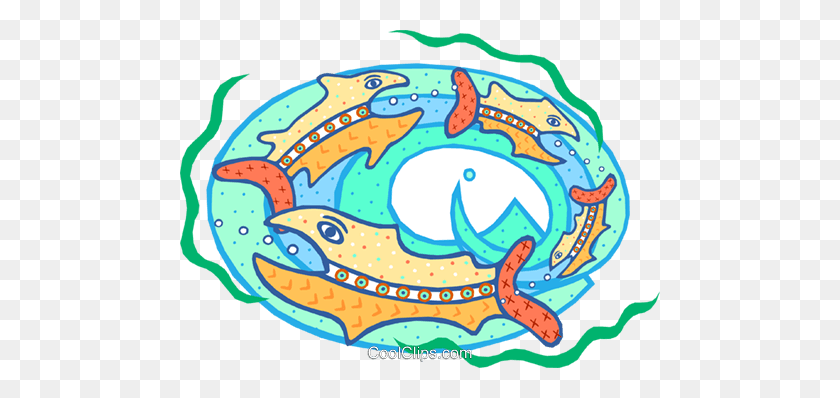 Big Fish Eating The Little Fish Royalty Free Vector Clip Art - Big Fish Clipart