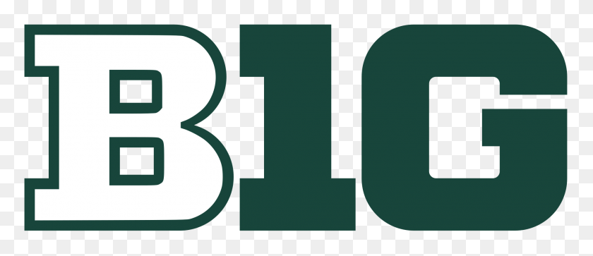 Big Ten Logo In Michigan State Colors - Michigan State Clip Art