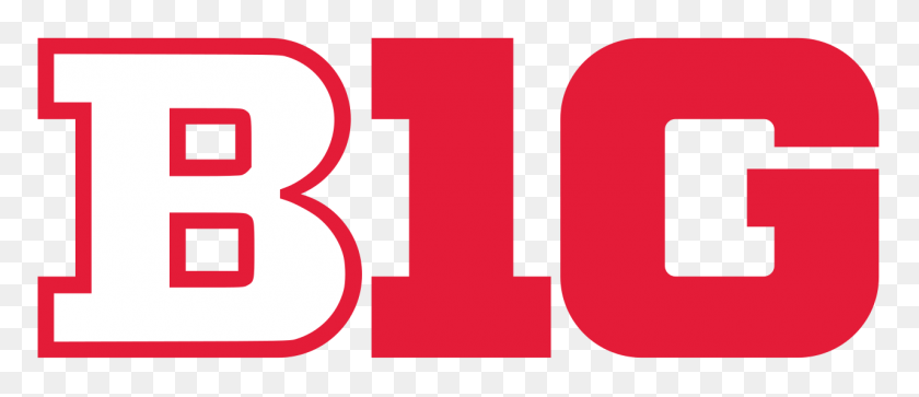 Big Ten Logo In Nebraska Colors - Football Laces PNG