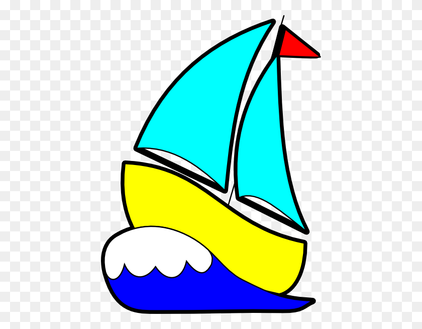 Bigger Sailboat Clip Art - Yacht Clipart
